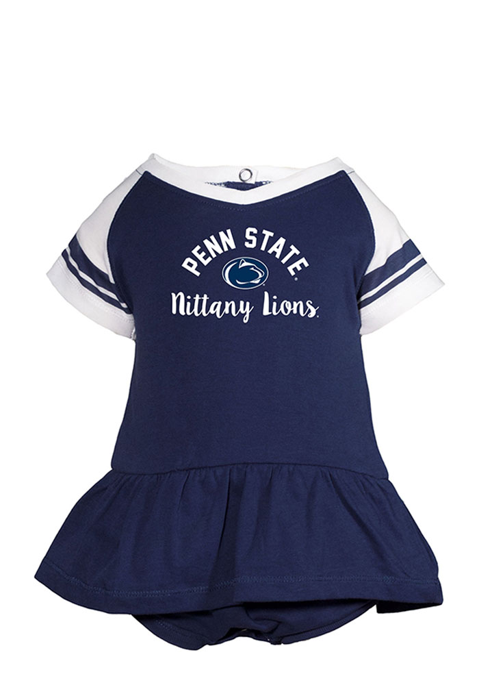 Penn State Nittany Lions Baby Navy Blue Calley Short Sleeve One Piece - Image 1
