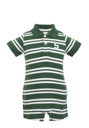 Michigan State Spartans Baby Green Oliver Short Sleeve Polo One Piece