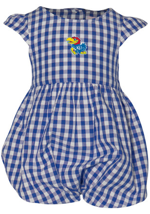 Kansas Jayhawks Baby Girls Blue Gigi Dress