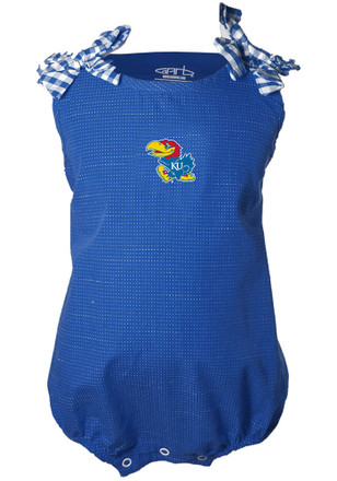 Kansas Jayhawks Baby Girls Blue Mabel Dress