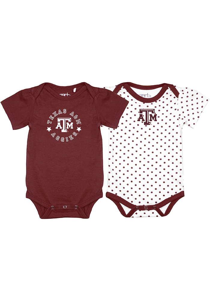 Texas A&M Aggies Baby Maroon Tammy Set One Piece - Image 1
