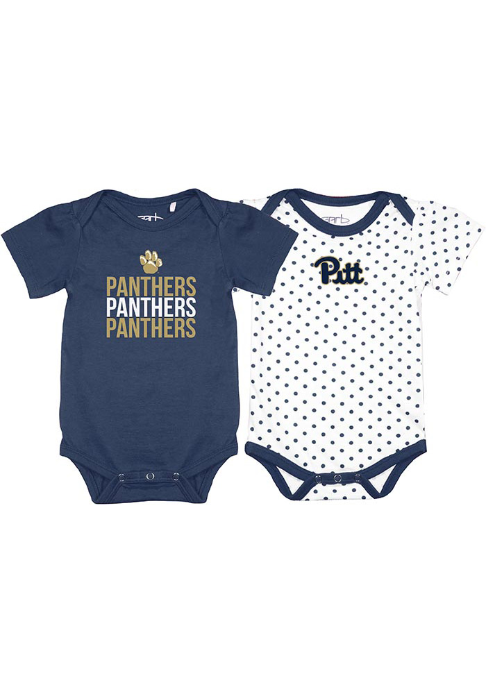 Pitt Panthers Baby Navy Blue Tammy Set One Piece - Image 1