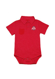 Ohio State Buckeyes Baby Declan One Piece Polo - Red