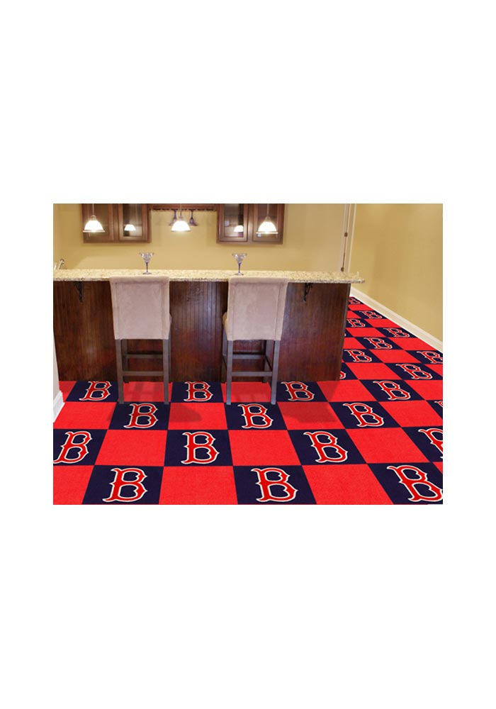 Boston Red Sox 18x18 Team Tiles Interior Rug - Image 1