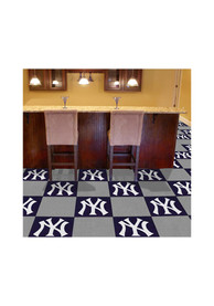 NY Yankees 18x18 Team Tiles Interior Rug