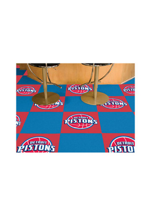 Detroit Pistons 18x18 Team Tiles Interior Rug