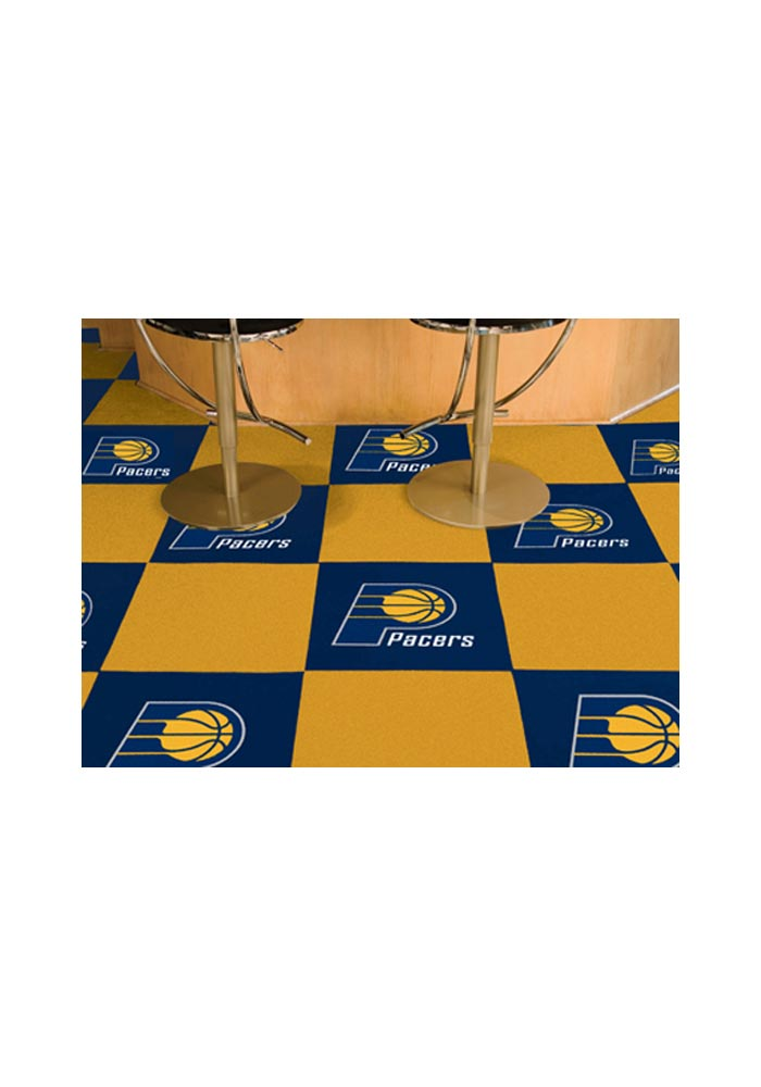 Indiana Pacers 18x18 Team Tiles Interior Rug - Image 1