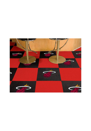 Miami Heat 18x18 Team Tiles Interior Rug