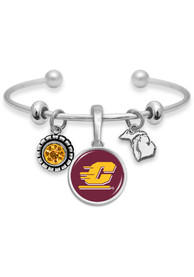 Central Michigan Chippewas Womens Home Sweet School Bracelet - Maroon