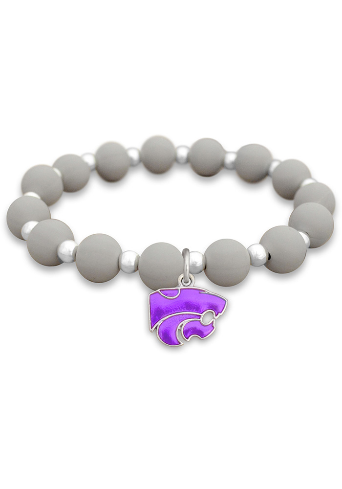 K-State Wildcats Zoey Silicone Womens Bracelet - Image 1