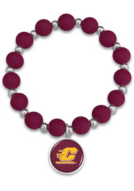 Central Michigan Chippewas Womens Leah Bracelet - Maroon