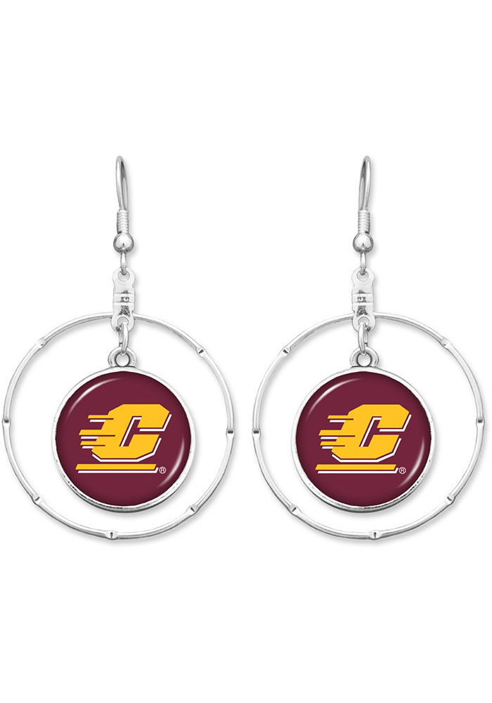 Central Michigan Chippewas Campus Chic Womens Earrings - Image 1