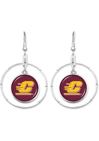 Central Michigan Chippewas Womens Campus Chic Earrings - Maroon