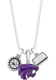 K-State Wildcats Womens Home Sweet School Necklace - Purple