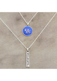 Kentucky Wildcats Womens Double Down Necklace - Blue