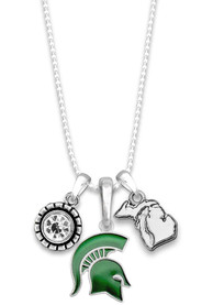 Michigan State Spartans Womens Home Sweet School Necklace - Green