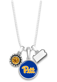 Pitt Panthers Womens Home Sweet School Necklace - Navy Blue