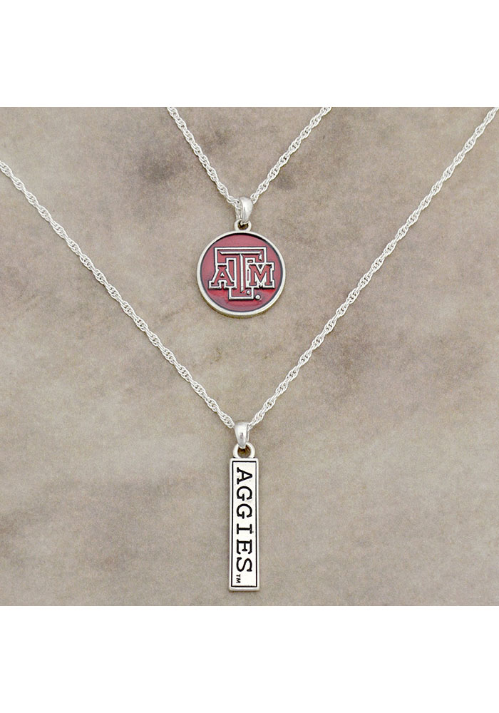 Texas A&M Aggies Womens Double Down Necklace - Red