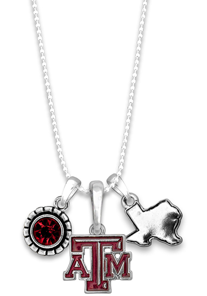 Texas A&M Aggies Womens Home Sweet School Necklace - Red