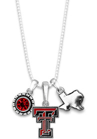 Texas Tech Red Raiders Womens Home Sweet School Necklace - Red