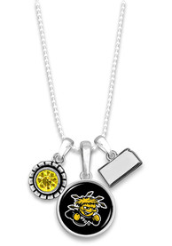Wichita State Shockers Womens Home Sweet School Necklace - Yellow