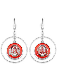 Ohio State Buckeyes Womens Campus Chic Earrings - Red