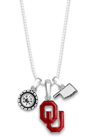 Oklahoma Sooners Womens Home Sweet School Necklace - Red
