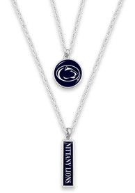 Penn State Nittany Lions Womens Double Layer Necklace - Blue