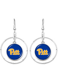 Pitt Panthers Womens Campus Chic Earrings - Blue