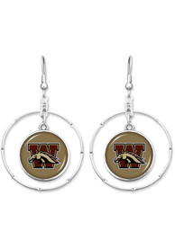Western Michigan Broncos Womens Campus Chic Earrings - Brown