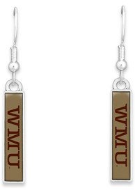 Western Michigan Broncos Womens Nameplate Earrings - Brown