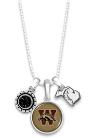 Western Michigan Broncos Womens Home Sweet School Necklace - Brown