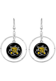 Wichita State Shockers Womens Campus Chic Earrings - Black
