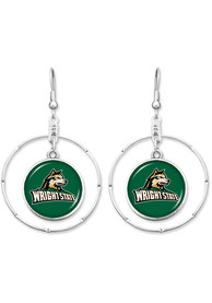 Wright State Raiders Womens Campus Chic Earrings - Green