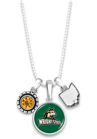 Wright State Raiders Womens Home Sweet School Necklace - Green