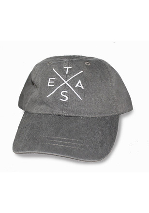 Texas Local Stuff Shop Grey Big X Snapback Hat