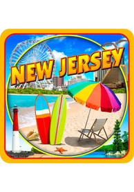 New Jersey Coaster Magnet
