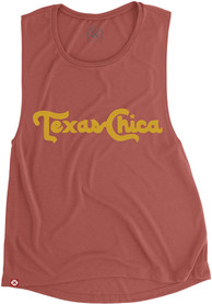 Tumbleweed Texas Womens Red Texas Chica Muscle Tank Top