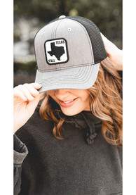 Texas Tumbleweed 2T Yall Road Sign Patch Trucker Adjustable Hat - Grey