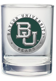 Baylor Bears Pewter Rock Glass