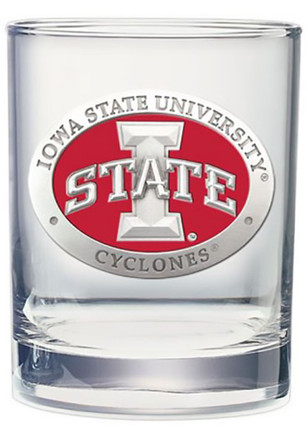 Iowa State Cyclones Pewter Rocks Rock Glass