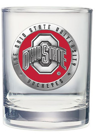 Ohio State Buckeyes Pewter Rock Glass