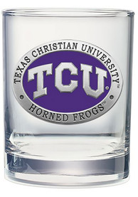 TCU Horned Frogs Pewter Rock Glass