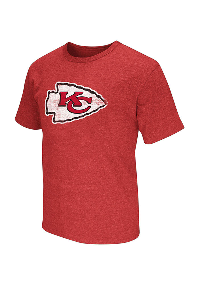 Kansas city chiefs mens red prime time short sleeve t for Kansas city chiefs tee shirts