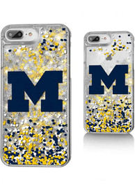 Michigan Wolverines iPhone 6+/7+/8+ Glitter Phone Cover
