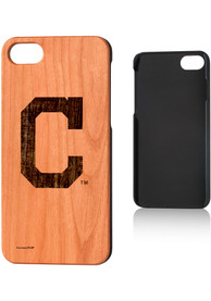 Cleveland Indians iPhone 7/8 Woodburned Cherry Wood Phone Cover