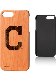 Cleveland Indians iPhone 7+/8+ Woodburned Cherry Wood Phone Cover