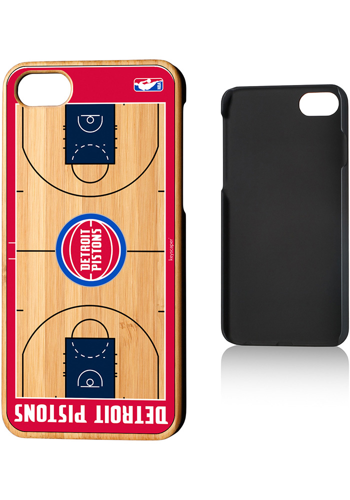 Detroit Pistons iPhone 7/8 Court Bamboo Phone Cover - Image 1