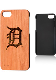 Detroit Tigers iPhone 7/8 Woodburned Cherry Wood Phone Cover