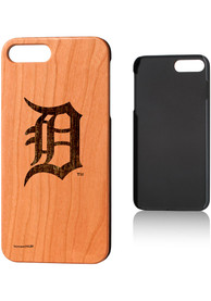 Detroit Tigers iPhone 7+/8+ Woodburned Cherry Wood Phone Cover